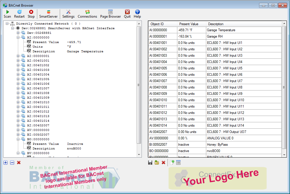 BACnet Browser for OEMs Screen Shot